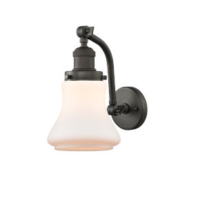 Franklin Restoration Oil Rubbed Bronze 12-Inch LED Wall Sconce with Matte White Bellmont Shade