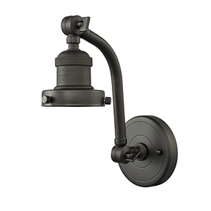 Bare Bulb Oiled Rubbed Bronze 12-Inch One-Light Wall Sconce