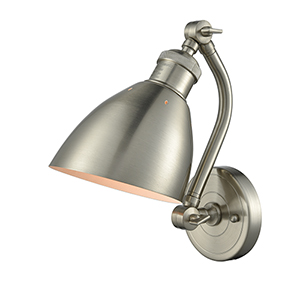 Salem Brushed Satin Nickel One-Light Wall Sconce