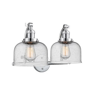Large Bell Polished Chrome Two-Light Bath Vanity
