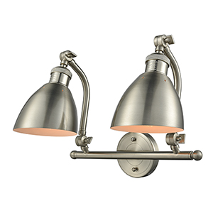 Salem Brushed Satin Nickel Two-Light Bath Vanity