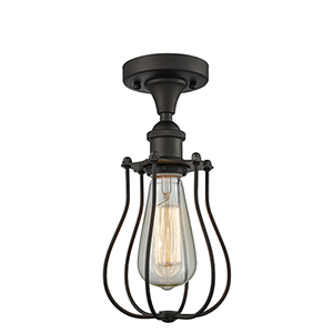 Barrington Oiled Rubbed Bronze LED Semi Flush Mount