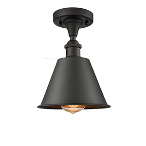 Smithfield Oiled Rubbed Bronze LED Semi Flush Mount