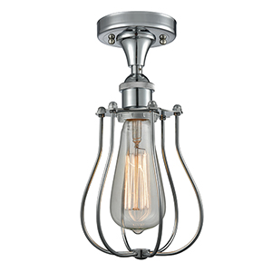 Barrington Polished Chrome One-Light Semi Flush Mount