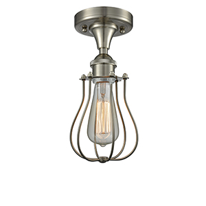 Kingsbury Brushed Satin Nickel One-Light Semi Flush Mount