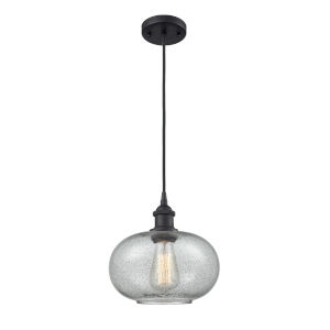 Ballston Matte Black 10-Inch One-Light Pendant with Charcoal Glass Shade