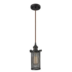 Bleecker Oiled Rubbed Bronze LED Mini Pendant