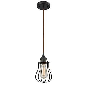 Barrington Oiled Rubbed Bronze One-Light Mini Pendant
