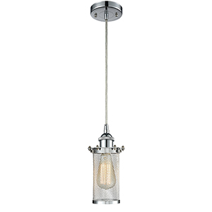Bleecker Polished Chrome One-Light Mini Pendant