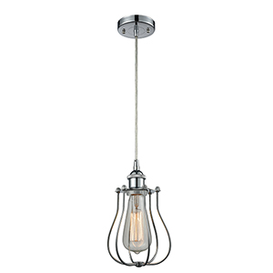 Barrington Polished Chrome One-Light Mini Pendant