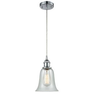 Hanover Polished Chrome One-Light Mini Pendant with Fishnet Glass