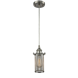 Bleecker Brushed Satin Nickel LED Mini Pendant
