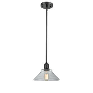 Orwell Matte Black One-Light Mini Pendant with Clear Glass