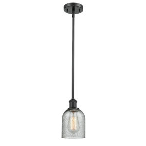 Ballston Matte Black Five-Inch One-Light Mini Pendant with Charcoal Glass Shade