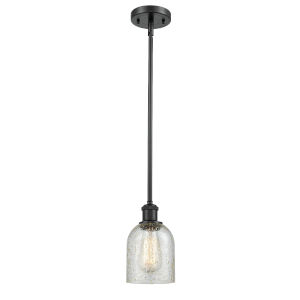 Ballston Matte Black Five-Inch One-Light Mini Pendant with Mica Glass Shade