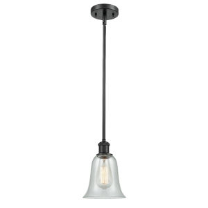 Hanover Matte Black One-Light Hang Straight Swivel Mini Pendant with Fishnet Glass