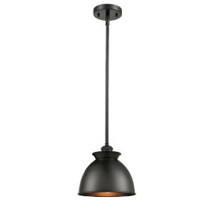 Ballston Matte Black Eight-Inch One-Light Mini Pendant with Matte Black Metal Shade