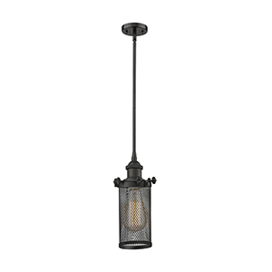 Bleecker Oiled Rubbed Bronze Six-Inch One-Light Mini Pendant