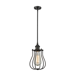 Barrington Oiled Rubbed Bronze Six-Inch One-Light Mini Pendant