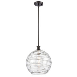 Ballston Oil Rubbed Bronze 12-Inch LED Pendant with Clear Glass Shade