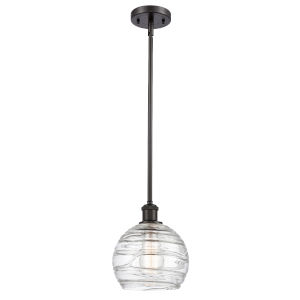 Ballston Oil Rubbed Bronze Eight-Inch LED Mini Pendant with Clear Glass Shade