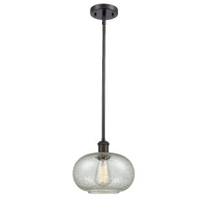 Gorham Oil Rubbed Bronze LED Mini Pendant with Seedy Glass