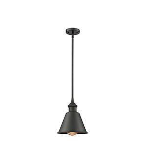 Smithfield Oiled Rubbed Bronze Seven-Inch One-Light Mini Pendant