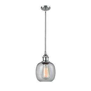 Belfast Polished Chrome Six-Inch One-Light Mini Pendant with Clear Seedy Sphere Glass