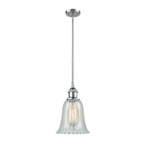 Hanover Polished Chrome One-Light Hang Straight Swivel Mini Pendant with Mouchette Glass