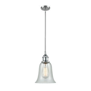 Hanover Polished Chrome One-Light Hang Straight Swivel Mini Pendant with Fishnet Glass