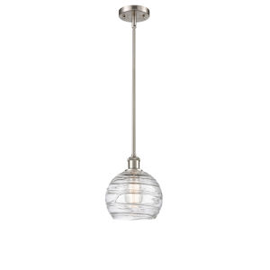 Ballston Brushed Satin Nickel Eight-Inch LED Mini Pendant with Clear Glass Shade
