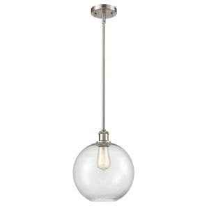 Ballston Brushed Satin Nickel 10-Inch One-Light Pendant with Clear Glass Shade