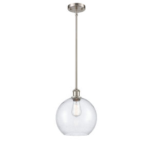 Ballston Brushed Satin Nickel 10-Inch One-Light Pendant with Seedy Glass Shade