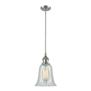 Hanover Brushed Satin Nickel One-Light Hang Straight Swivel Mini Pendant with Mouchette Glass