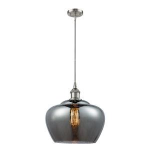 Large Fenton Brushed Satin Nickel LED Pendant