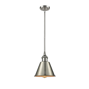 Smithfield Brushed Satin Nickel Seven-Inch One-Light Mini Pendant