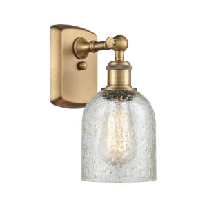 Ballston Brushed Brass Five-Inch One-Light Wall Sconce with Mica Glass Shade