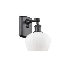 Fenton Matte Black One-Light Adjustable Wall Sconce