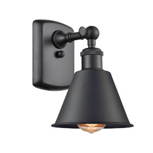 Ballston Matte Black Seven-Inch One-Light Wall Sconce