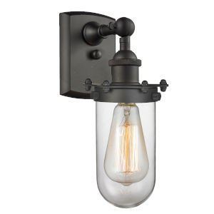 Kingsbury Oil Rubbed Bronze LED Wall Sconce with Clear Glass