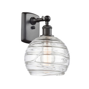 Ballston Oil Rubbed Bronze Eight-Inch One-Light Wall Sconce with Clear Glass Shade