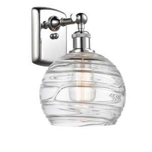 Ballston Polished Chrome Eight-Inch LED Wall Sconce with Clear Glass Shade