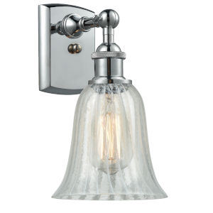 Hanover Polished Chrome One-Light Wall Sconce with Mouchette Glass