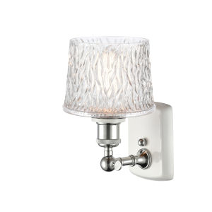 Ballston White and Polished Chrome Seven-Inch One-Light Wall Sconce