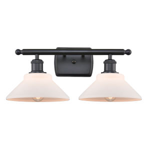 Orwell Matte Black Two-Light LED Bath Vanity