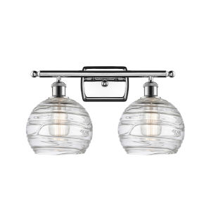 Ballston Polished Chrome 16-Inch Two-Light LED Bath Vanity with Clear Glass Shade