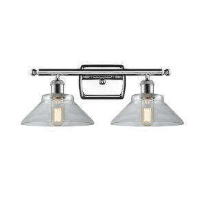 Orwell Polished Chrome Two-Light LED Bath Vanity with Clear Glass