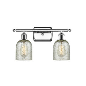 Ballston Polished Chrome 16-Inch Two-Light Bath Vanity with Mica Glass Shade