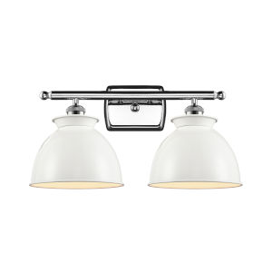 Ballston Polished Chrome 18-Inch Two-Light Bath Vanity