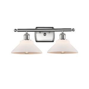 Orwell Brushed Satin Nickel Two-Light LED Bath Vanity